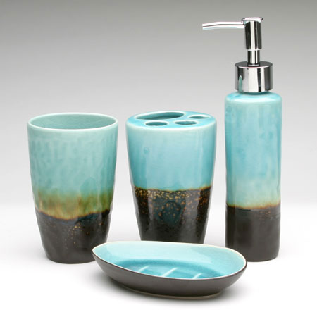 Superieur These Are So Unique Very Trendy And Classy Bathroom Accessories They Boast  Studio Ceramic Bath Sets. Teal Bathroom Accessories.