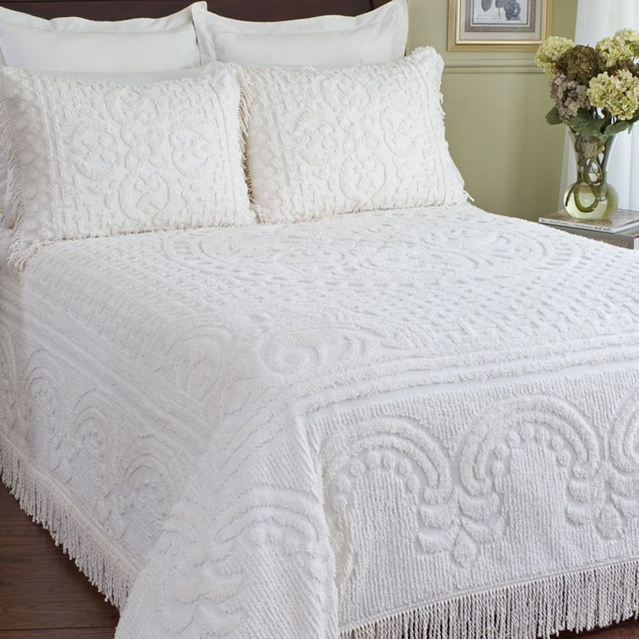 Medallion Chenille Bedspread Collection. Bed spread