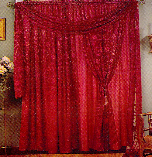 BURGUNDY SHOWER CURTAINS – Curtains & Blinds